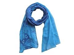 Tie Dye Wrap Blue & Aqua