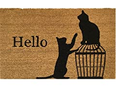 Outdoor Mat - Hello Cat