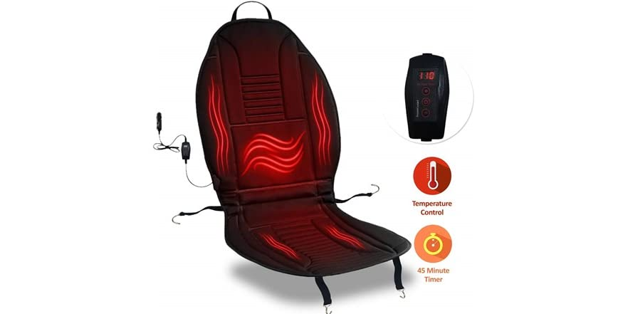 Zone Tech Heated Car Seat Cushion Cover | WOOT
