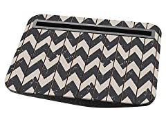 Tablet Cushion - Black / White Chevron