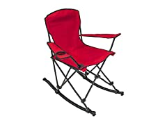 Portable Folding Rocking Chair - Red