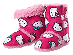 Hello Kitty Junior's Short Slipper Bootie, Fuschia