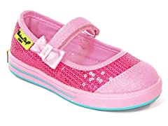 Mary Jane Bright Pink Sneakers