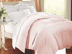 Egyptian Cotton Comforter-Pink-F/Q