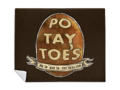 """Po. Tay. Toes."" Blanket"