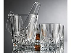 6Piece Ice Bucket Bar Set, Clear