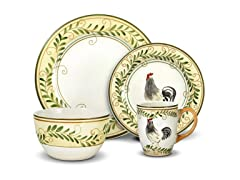 16pc Dinnerware Set, Country Cottage