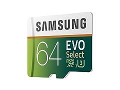 Samsung EVO Select 64GB MicroSDXC Card