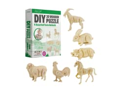 DIY 3D Wooden Puzzle 6-Count - Your Choice