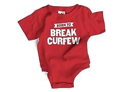 "Wrybaby ""Break Cerfew"" Red Bodysuit"