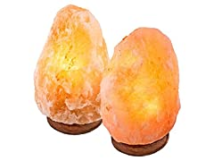 UmAid Crystal Himalayan Rock Salt Lamp- 2 Pack
