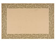 Courtyard 2-PC Rug Set - Natural/Green