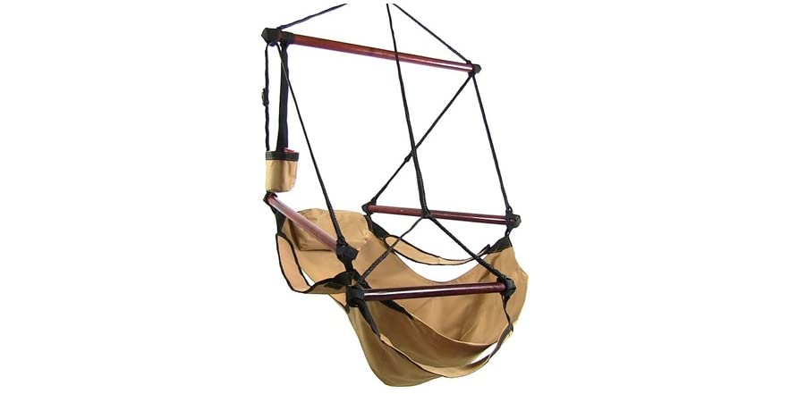 Sunnydaze Deluxe Hanging Hammock Air Chair With Pillow And