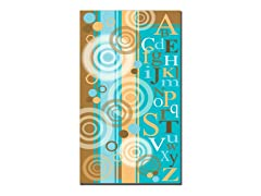 Circles and Letters Canvas Art