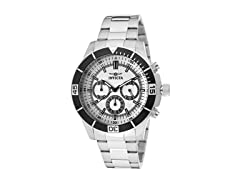 Invicta Men's Chronograph, Silver/Silver