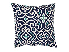 Damask 18-inch Throw Pillow