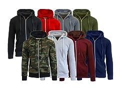 2PK ASST Mens Zip Sweater Hoodie