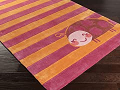 Young Life Pink Lady Bug Rug - 5 Sizes