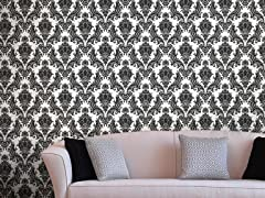 Heirloom Damask Charcoal Tiles
