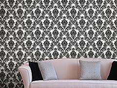 Heirloom Damask Charcoal Tiles