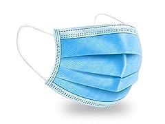 Blue Disposable 3-Ply Face Masks