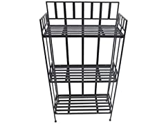 3 Tier Shelf Black 24 x 10.5 x 46""