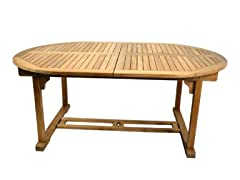 Solid Teak Oval Table