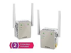 Netgear AC1200 Wi-Fi Range Extender 2-Pack