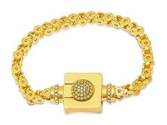18k Gold Plated 0.59 Ctw Sim Dia Bracelet