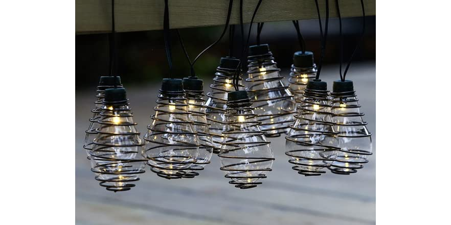Glass Bulbs and Metal Wire String Lights