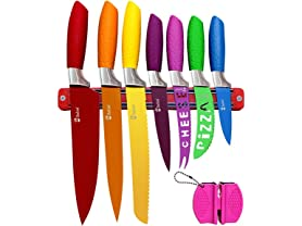 Chefcoo Kitchen Knife Set Plus Magnetic Strip