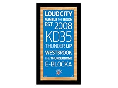 "Oklahoma City Thunder 9.5"" x 19"" Sign"