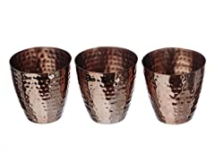 Copper Votives  set/3