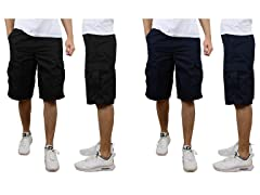 2PK Men's Cotton Blend Cargo Shorts