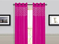 "95"" Sonya Grommet Panel - Fuschia"