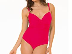 Coco Limon 1-Piece V-Neck, Red