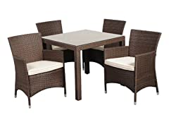 5-Piece New Liberty Wicker Dining Set