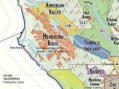 De Long Wine Map of California