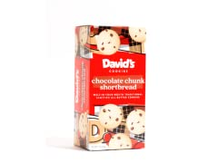 Chocolate Chunk Shortbread Cookies, 4pk