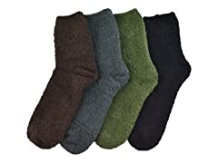 "MUK LUKS ® Men's 8"" Micro Chenille 4 Pair-Pack Socks"
