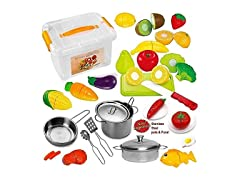 FUNERICA Pretend Play Food Set for Kids