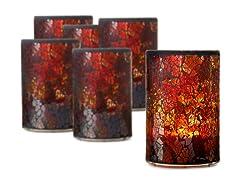 Mosaic Glass Patio Light 3x5 - Set 6
