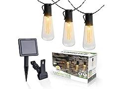 Slim Edison Bulb Solar String Lights