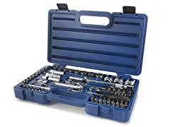 "60 PC 1/4"" & 1/2"" Ratchet/Socket w/ Case"