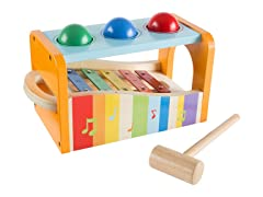 Wooden Pound and Play Bench Toy