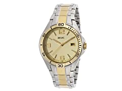 Men's Gold tone Dial Two Tone Watch