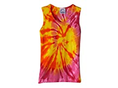 Girls Ribbed Tank - Cherry Mango (XS)