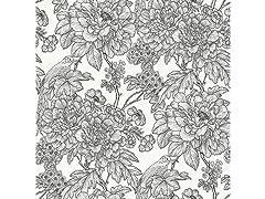 Black & White Sudbury Peel & Stick Wallpaper