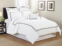 Arden Hotel Circle Embellished 7-Piece Comforter Set- Queen