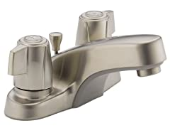 Core Two Handle Faucet, Brushed Nickel